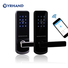 Bluetooth WiFi Smart Electronic Door Lock Keypad Mortise Doo