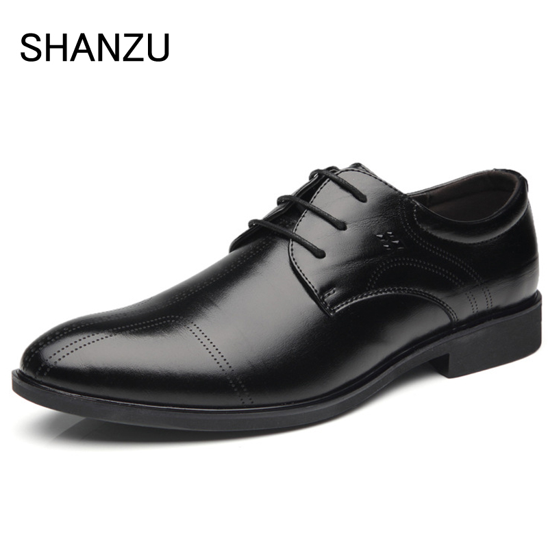 цены Men Dress Shoes Classic Genuine Leather Luxury Italian Formal Oxford shoes   Male Fashion Flats Pointed Toe Work Shoes 325