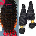 8A Peruvian Loose Wave Virgin Hair 4Bundles Unprocessed Loose Curly Weave Human Hair Extensions Peruvian Virgin Hair Loose Wave