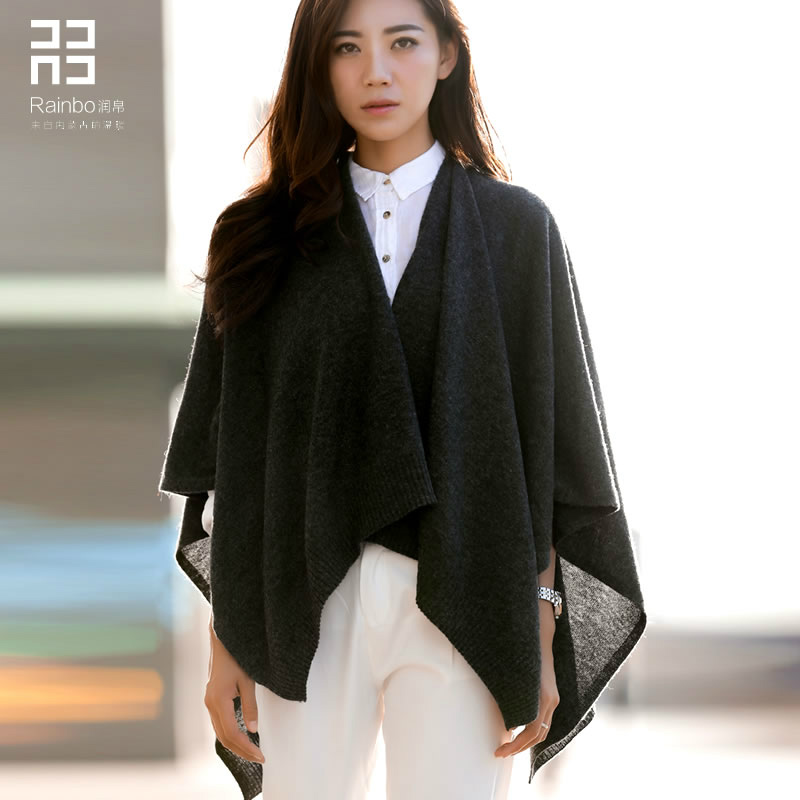 2016 Spring And Autumn Winter Cloak Female All-match Knitted Shawl And Pure Wool Scarf Shawl Cardigan.