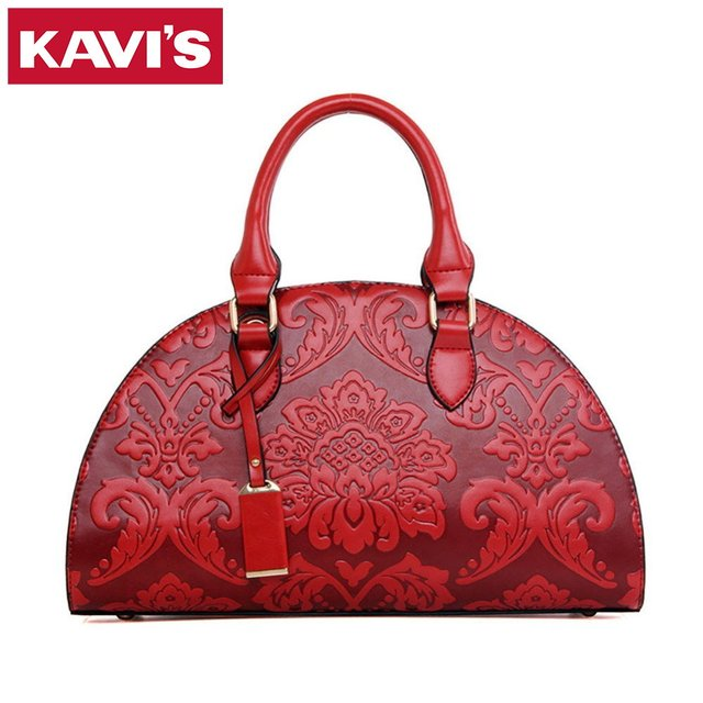Women Classical Handbags Flower Embossing Shoulder Bags Semicircle Shape Female Messenger Bolsos De Las