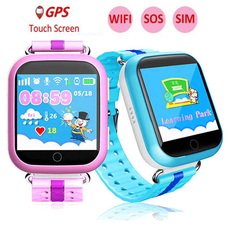 GPS Smart Watch Q750 Q100 Baby Smart Watch 1.54 inch Colorful Touch Screen SOS Call Location Device Tracker for Kid Safe