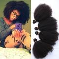 1 Pcs Mongolian Kinky Curly Virgin Hair 55g/Pcs Mongolian Afro Kinky Curly Hair 100% Unprocessed Human Hair Weaves Free Shipping