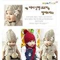 Urso de lã de tricô cap gorro newborn headwear meninas do bebê chapéu do inverno da orelha crianças chapéu de balde cap bonet bebes infantil