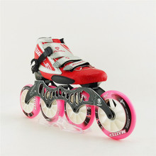Professional women/men carbon fiber roller skates speed skating shoes inline skate boots with 4 wheels