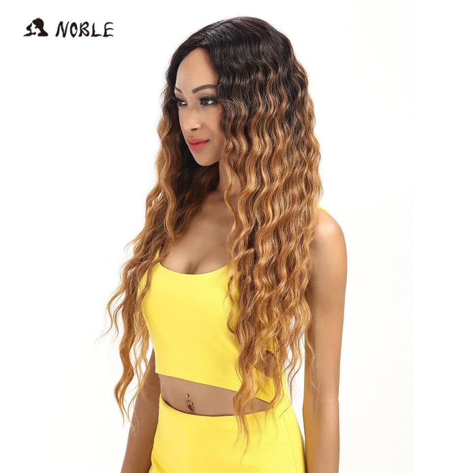 Noble Hair Products Lace Front Parykar 30 tum långa vågiga mörka - Syntetiskt hår - Foto 3