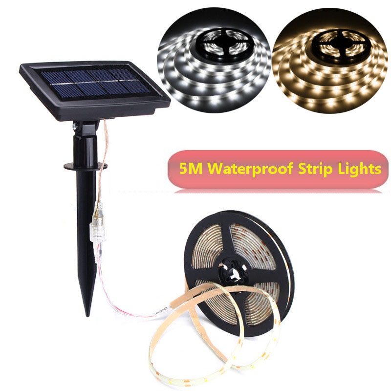 Super Bright 2835 LED Strip Light Solar Powered LED Lights Flexible Solar String Waterproof Auto ON/OFF Festival Christmas Decor 2 in 1 solar powered led spotlight super bright outdoor lamp 8 led waterproof type adjustable auto on auto off security light