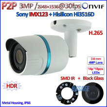 H 265 Hi3516D 3MP ip camera outdoor 2 0MP WDR camara ip POE 1080P IMX123 Sensor