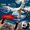 Kvadrokoptery 4 Canales Helicóptero FPV Quadcopter Drohne App Controller Aviao Drones de la Cámara Profesional con 100 W FPV Cámara