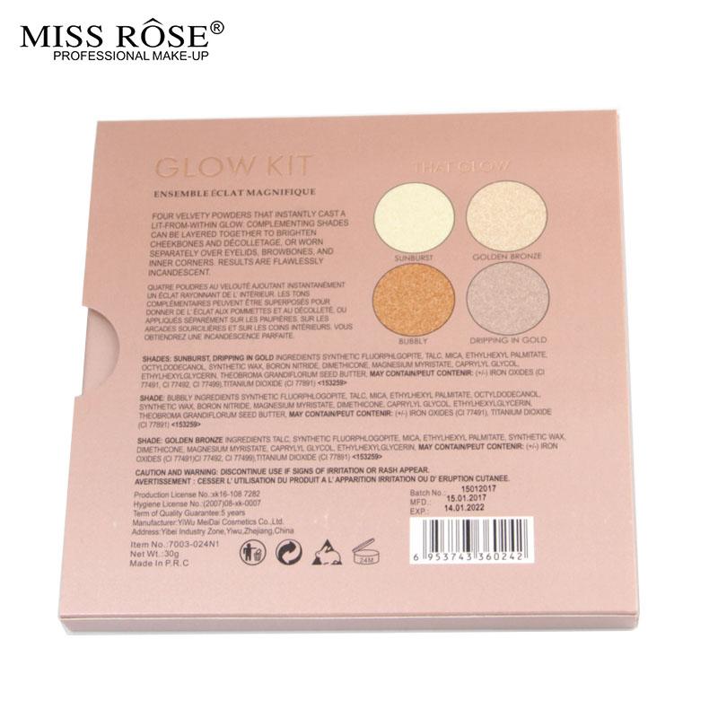MISS ROSE GLEAM GOLDEN Glow kit Chocolate illuminator Birthday Edition Face Bronzer&Highlighter Concealer Contour Makeup Palette (2)