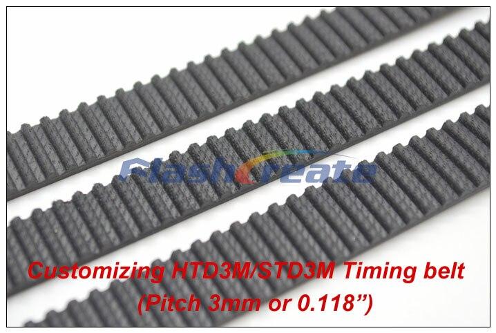 Zahnriemen geschlossen HTD-3M Breite 9mm Länge bis 250mm