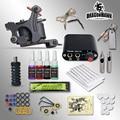 Completar kits de Tatuaje 8 bobinas de abrigo ametralladoras 1/6 oz tinta del tatuaje negro sets fuente de alimentación aguja desechable envío gratis