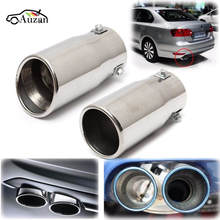 Car Auto Vehicle Chrome Exhaust Pipe Tip Muffler Steel Stainless Trim Tail Tube Car Rear Tail Throat Liner Accessories
