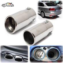 Voiture Auto véhicule Chrome tuyau déchappement pointe silencieux acier inoxydable garniture queue Tube voiture arrière queue gorge Liner accessoires