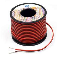 Linha de fio paralela do condutor do fio 2 do silicone 20 awg 60m [preto 30m vermelho 30 m] conecte o cobre estanhado do oxigênio