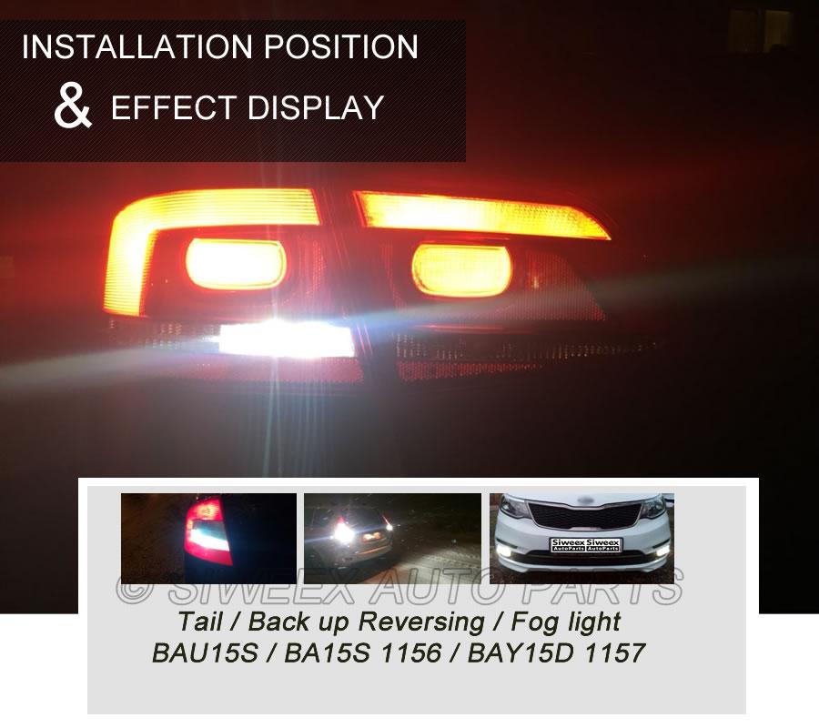 1 Pcs 1156 BA15S / 1157 BAY15D BAU15S Auto Car LED 2 COB Filament Reverse Light Parking Tail Blub White Warm White Blue Red 12V