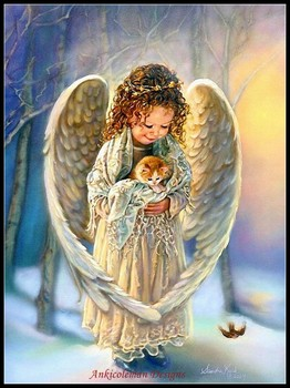 Needlework for embroidery DIY French DMC High Quality - Counted Cross Stitch Kits 14 ct Oil painting - Winter Angel фото