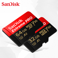 SanDisk Extreme / PRO Memory Card 128GB 64GB 32GB Read Speed Up to 100MB/s microSDHC/micro SDXC UHS I micro SD U3 V30 4K UHD