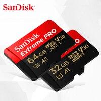 Sandisk extreme/pro cartão de memória 128gb 64gb 32gb velocidade de leitura até 100 mb/s microsdhc/micro sdxc UHS-I micro sd u3 v30 4k uhd