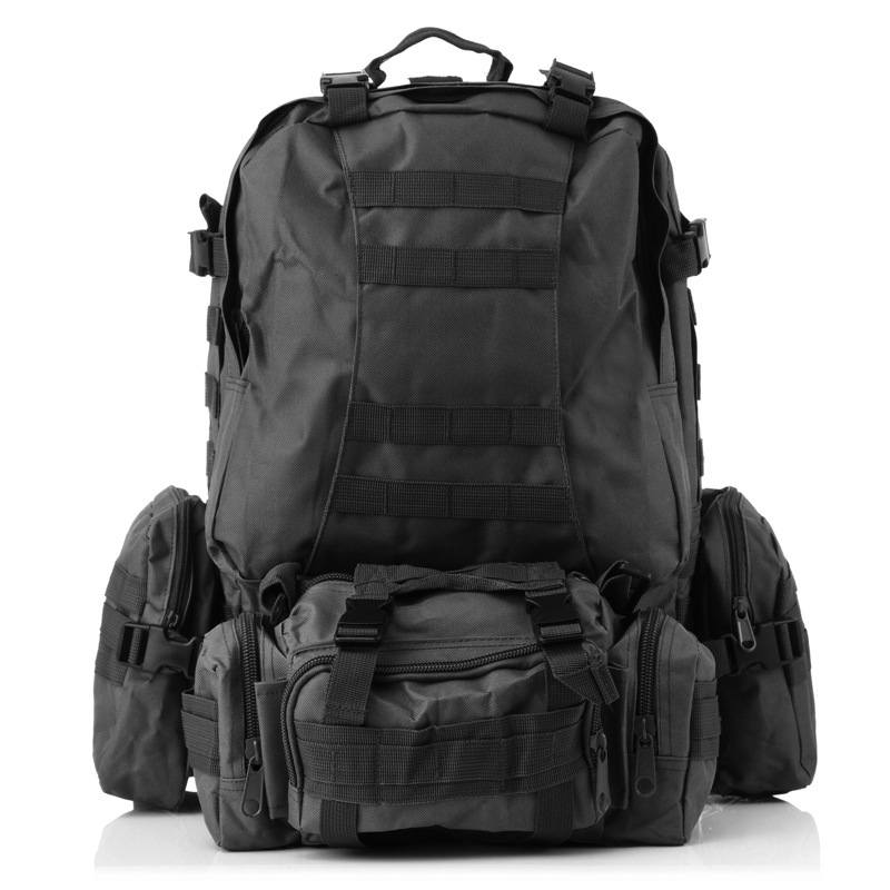 55L Multifunctional Sports Bag MOLLE Tactical Bag Water Camouflage Backpack Outdoor Climbing Hiking Camping Backpack 65l outdoor sports multifunctional heavy duty backpack military hiking