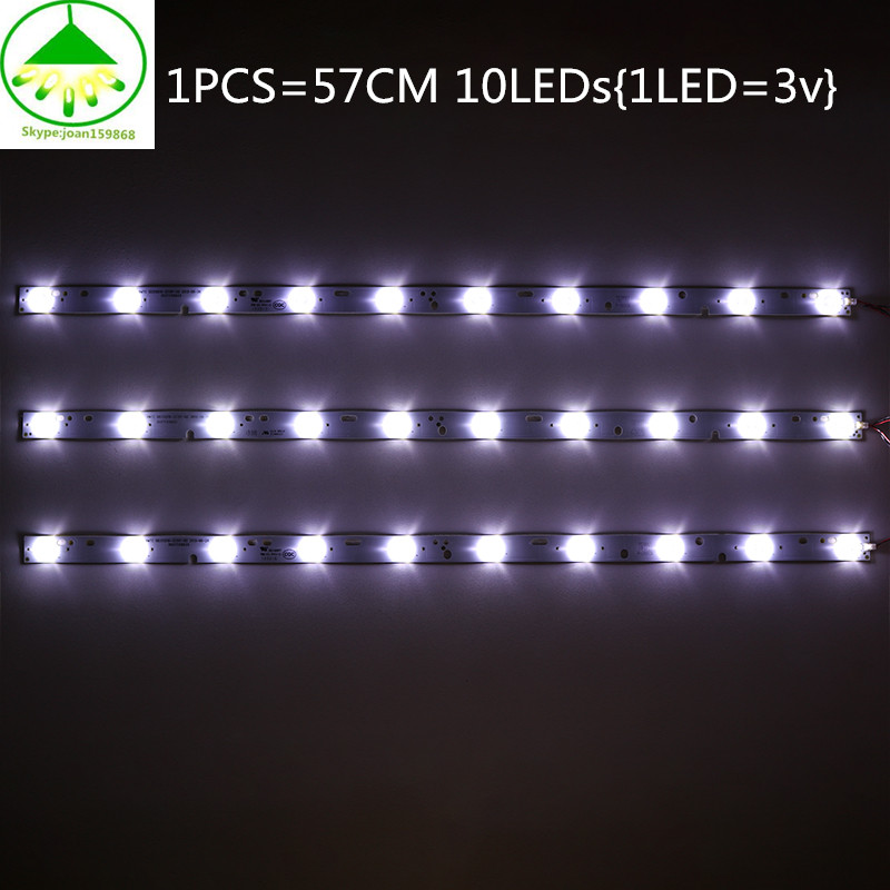 10 PCS 32'' 570mm*17mm 10leds LED Backlight Lamps LED Strips w/ Optical Lens Fliter for TV <font><b>Monitor</b></font> Panel 30V New <font><b>32inch</b></font> 57cm image