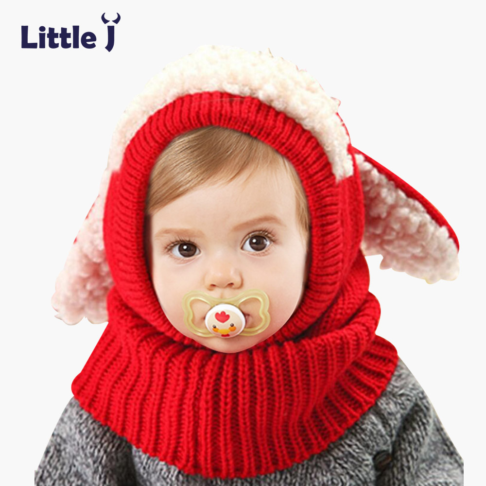 Winter Rabbit Fur Knitted Baby Caps Cute Baby Photography Props Soft Plaited Warm Hat Baby Girl Crochet Beanie Toddler Cap