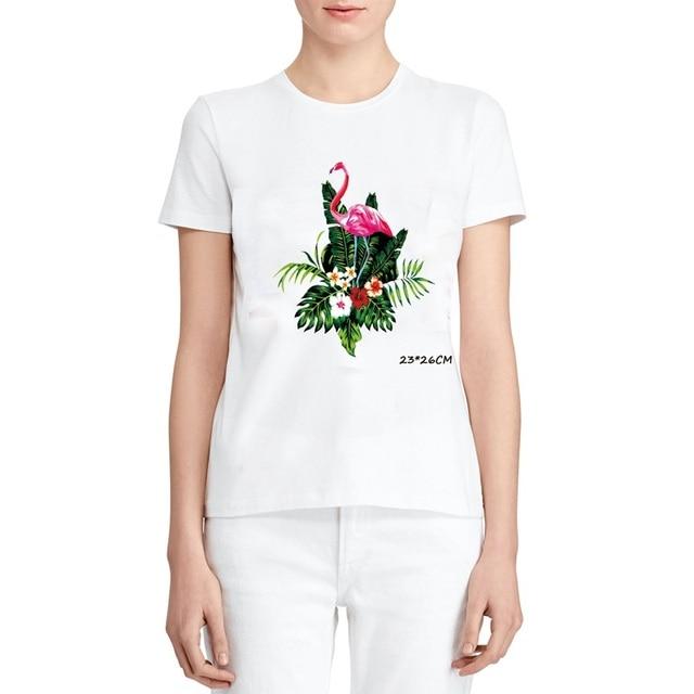 חדש כותנה Harajuku אסתטיקה T חולצה סקסי פרחי נוצת הדפסה קצר שרוול חולצות & Tees אופנה מקרית זוג לבן שחור
