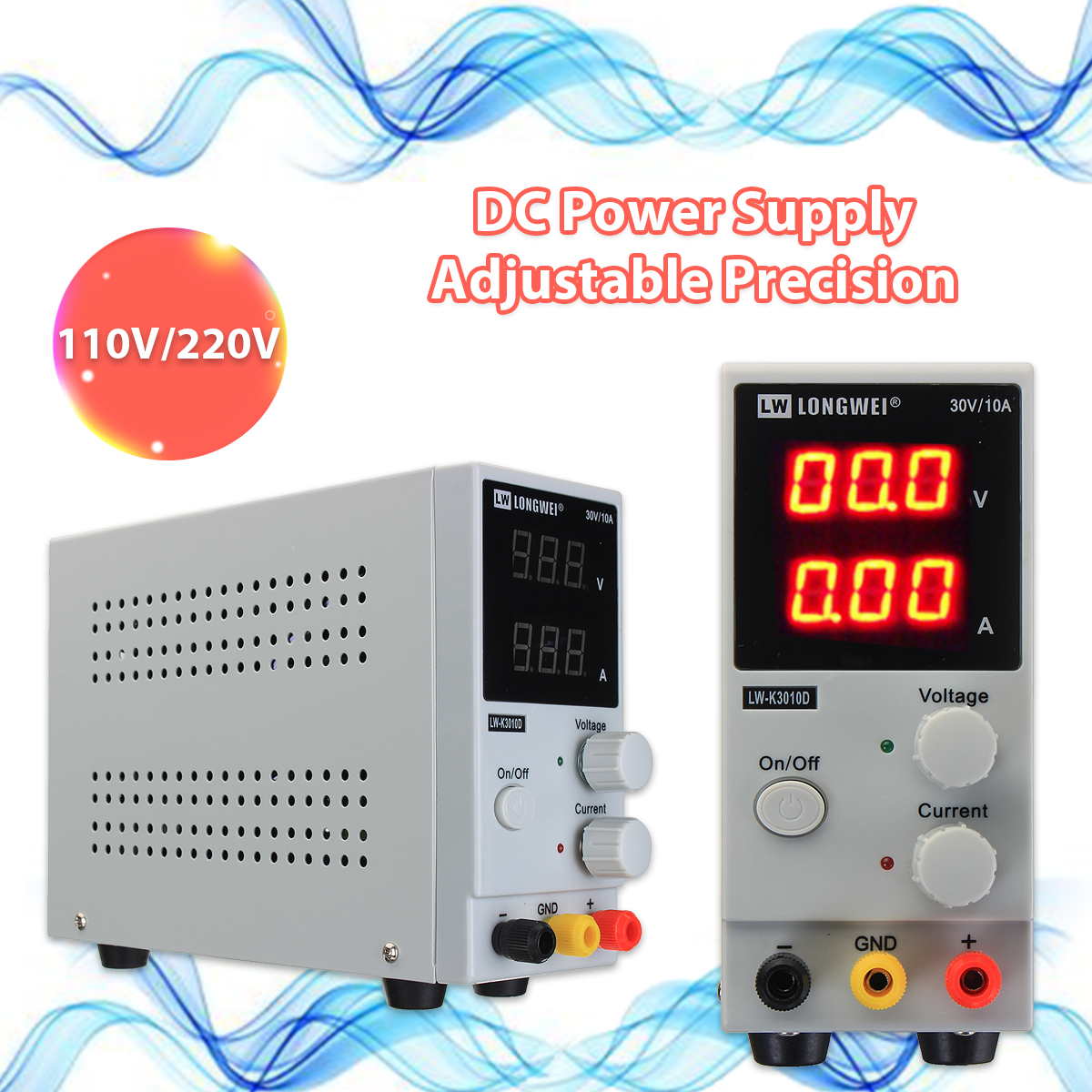 0-10A 0-30V 220V LCD DC Power Supply Variable Adjustable Switching Regulated Power Supply Digital Laboratory Voltage Regulator 0 30v 0 20a output brand new digital adjustable high power switching dc power supply variable 220v