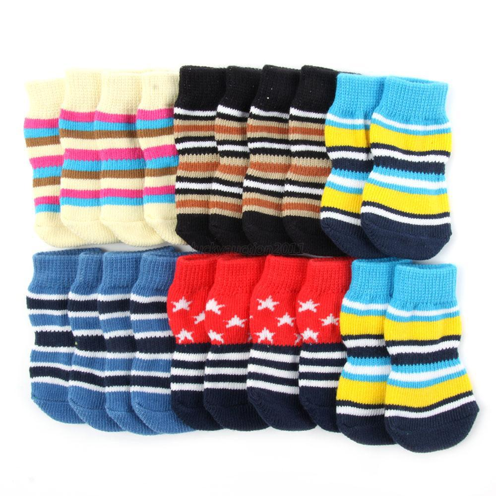 Dog Pet Non-Slip Socks S M L XL Multi-Colors Puppy Shoe Doggie Clothing Fashion Hot