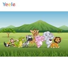 Yeele Vinyl Safari Animals Grassland Children Birthday Party Photography Background Baby Photographic Backdrop Photo Studio