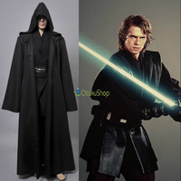 2016 Star Wars Anakin Skywalker Cosplay Costume Jedi Knight Hooded Cloak Robe Halloween Costumes Whole Set