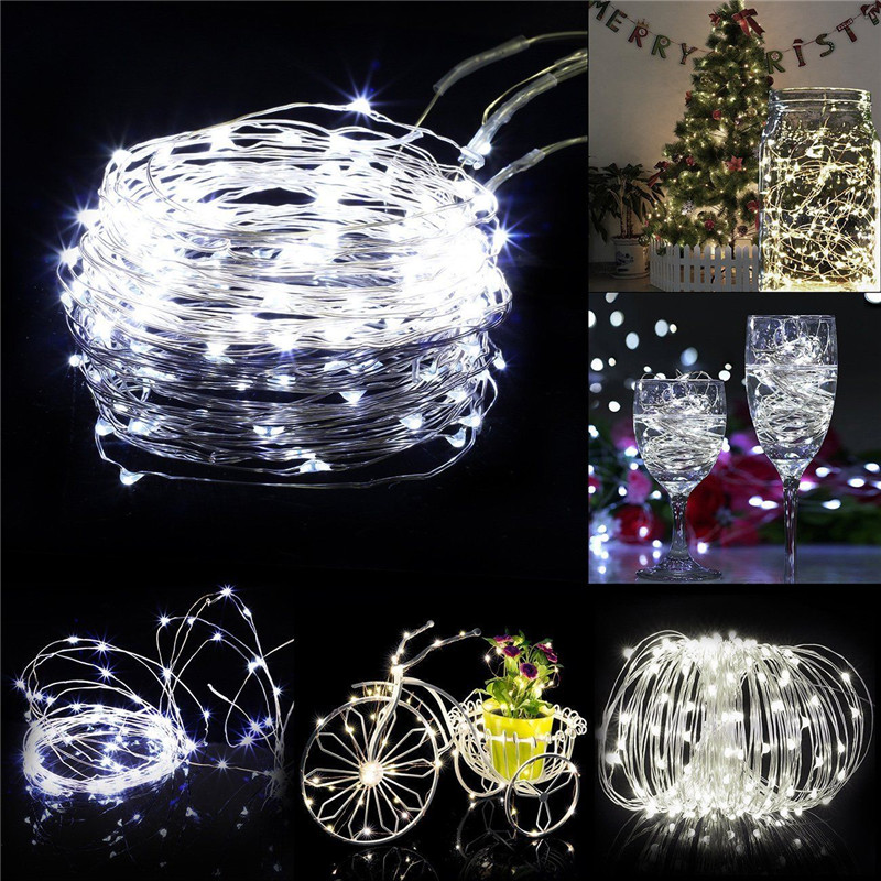 Image 5 - 5M/10M Waterproof remote control 8 Mode LED fairy holiday light string DIY Christmas garland tree indoor/outdoor home decoration-in LED String from Lights & Lighting on