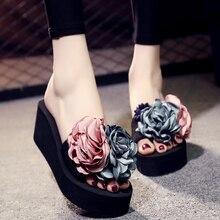 6CM/3CM Heel Height Women Sandals Summer Comfortable Non-slip Slides Handmade Slippers