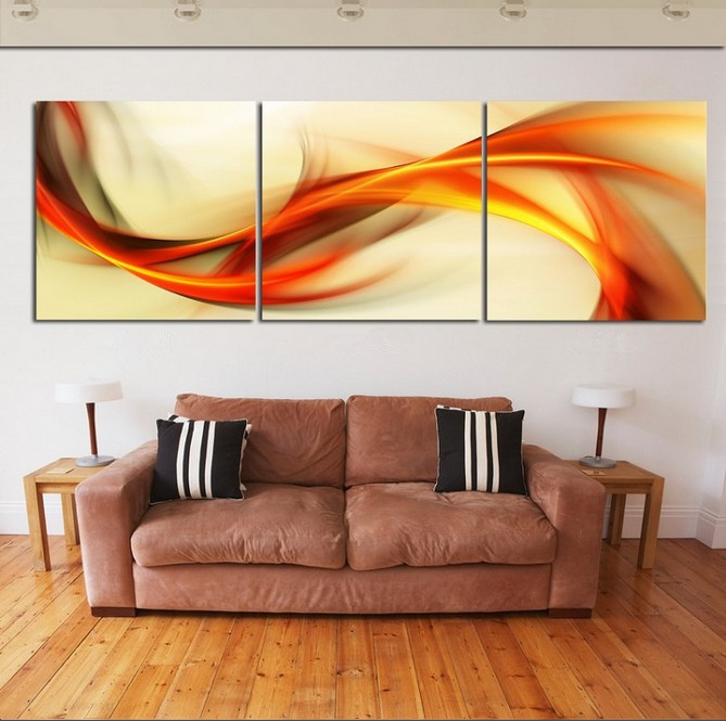 3 Piece Wall Art Abstract Painting Home Decor Modern Picture Set On