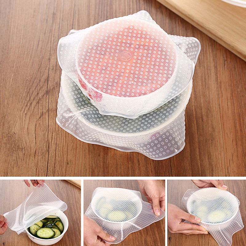 Enjoyable Us 3 4 20 Off High Quality 4Pcs Reusable Silicone Food Wraps Seal Cover Stretch Multi Functional Food Saran Wrap Kitchen Tools 238059 In Saran Pdpeps Interior Chair Design Pdpepsorg