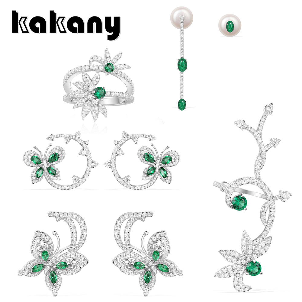Jewelry & Accessories Earnest Kakany Original 1:1 High Quality 925 Sterling Silver Mint Butterfly Series Stud Earrings European Womens Fashion Jewelry Large Assortment