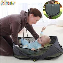 1 шт. Jollybaby Brica портативный складной путешествия люлька Детские Детская кроватка кровать на ходу детская кровать
