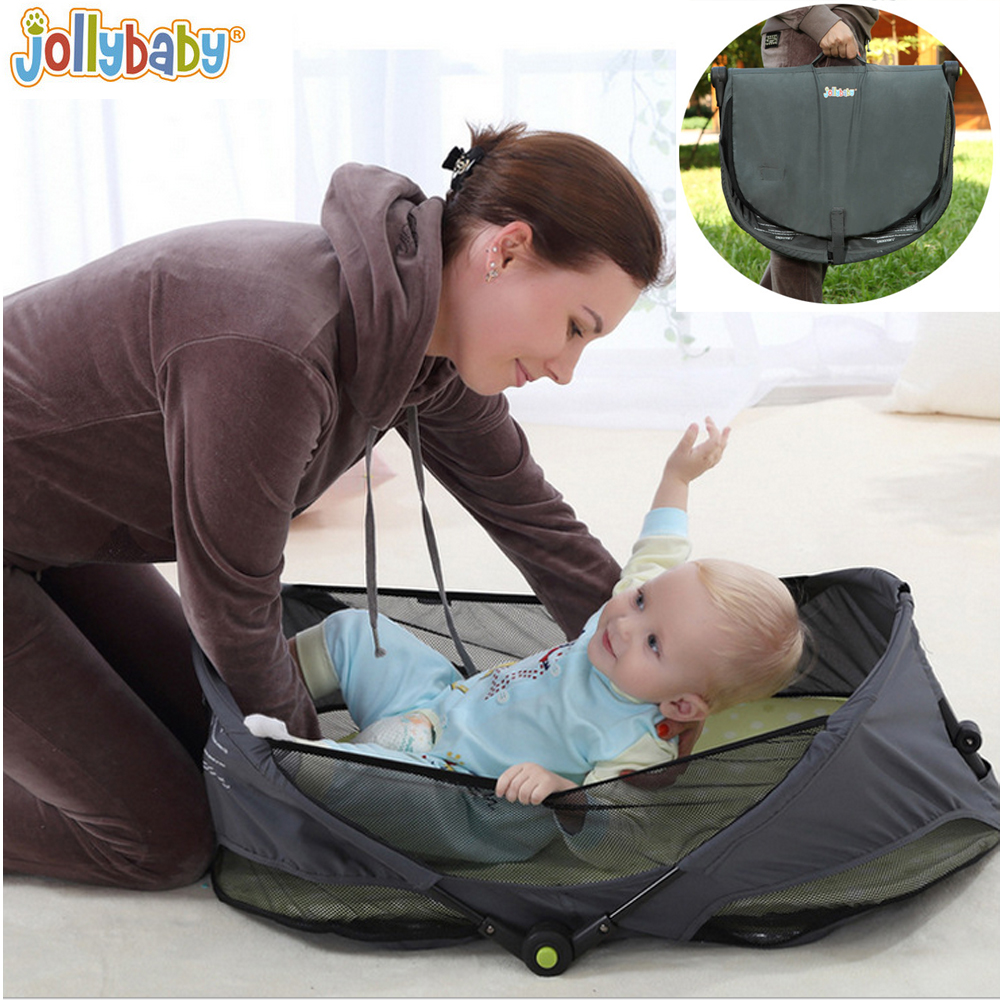 1pcs Jollybaby Brica Portable Folding Travel Bassinet Baby Bed Baby Crib Bed On The Go Infant bed 1pcs jollybaby brica portable folding travel bassinet baby bed baby crib bed on the go infant bed
