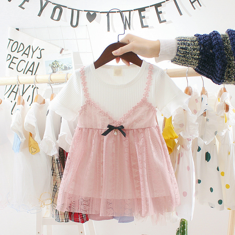 Promotion Children Summer Wear Girls Western Style Dresses 0-4 Years Princess Clothes Baby Girls One-piece Infant Dress