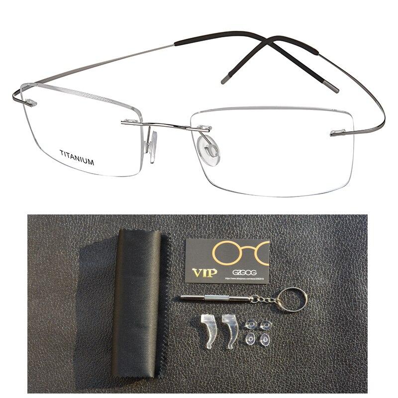 100% B Titan Brille Rahmen Männer Frauen Brillen Licht Platz Randlose Myopie Optische Rahmen Eyewear Oculos Gafas