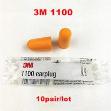 10 par/partia 3M 1100 jednorazowe zatyczki do uszu pianka redukcja szumów darmowa wysyłka