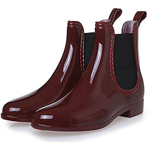 Image 3 - Rubber Boots for Women PVC Ankle Rain Boots Waterproof Trendy Jelly Women Boot Elastic Band Rainy Shoes Woman botas mujer