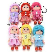 цены 5Pcs/lot Cute Mini Dolls Kids Baby Cartoon Movie Plush Toys Pendant Gift For Girls Boys Toy Plush Animals Random Color Hot Sell