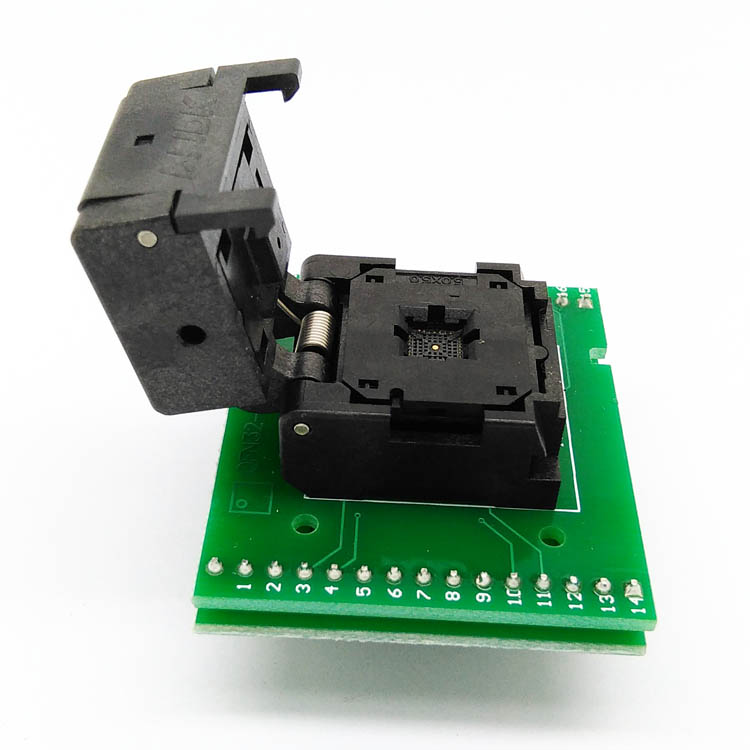 QFN28 MLF28 WLCSP28 to DIP28 Programming Test Socket/Adapter Pitch 0.5mm IC Body Size 5x5 IC550-0284-011-G Clamshell Double PCB new qfn28 d28 burning seat adapter qfn 28b 0 65 01 to test