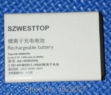 SZWESTTOP d'origine AB1400BWML batterie Pour philips S308 téléphone cellulaire AB1400BWML pour XENIUM CTS308 smart Mobile