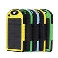 Universal banco de energia solar 5000 mah carregador solar portátil à prova d' água dual-usb carregador de bateria solar para iphone samsung tudo telefone