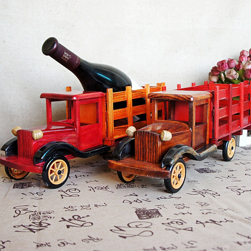 Vintage Home Decor Office 15 Inch Truck Wine Rack Car