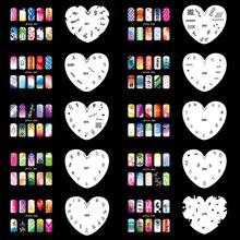 OPHIR Set14 200 Airbrush Nail Art Stencil Design 20 Template Sheets Kit Brush Paint_JFH14 colopaint body art airbrush nail art stencil set 11 with 20 stencil template design sheets 260 designs