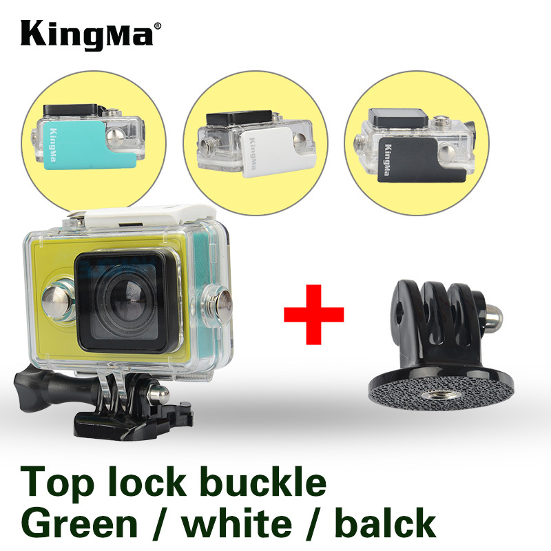 KingMa 45m Diving Waterproof Case Diving Sports Waterproof Housing Action Camera Accessories For Xiaomi Yi 1 Action Camera f88 action camera black