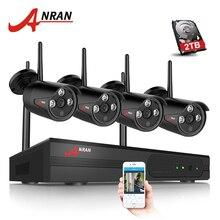 ANRAN 4CH 1080 P HDMI Wifi NVR de Seguridad del Sistema de Cámara IR Exterior Impermeable del CCTV Cámara de Vigilancia Inalámbrica Sistema de 2 TB HDD
